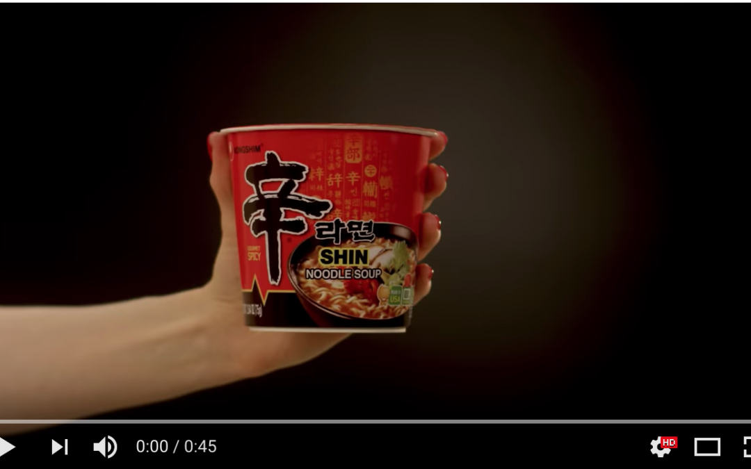 The Color of Delicious Shin Ramyun