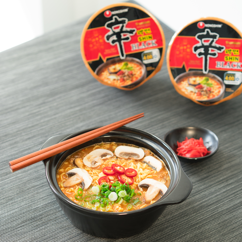 Shin Black Bowl, Nongshim's Newest Snack Size Wonder