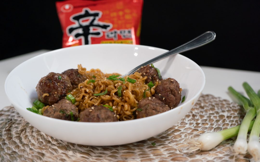 Meatball Shin Ramyun [Recipe Video]