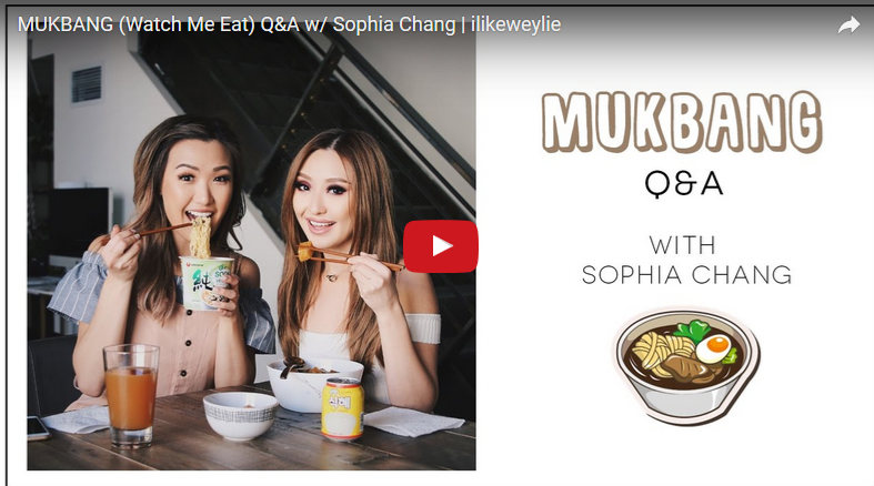 MUKBANG (Watch Me Eat) Q&A w/ Sophia Chang | ilikeweylie