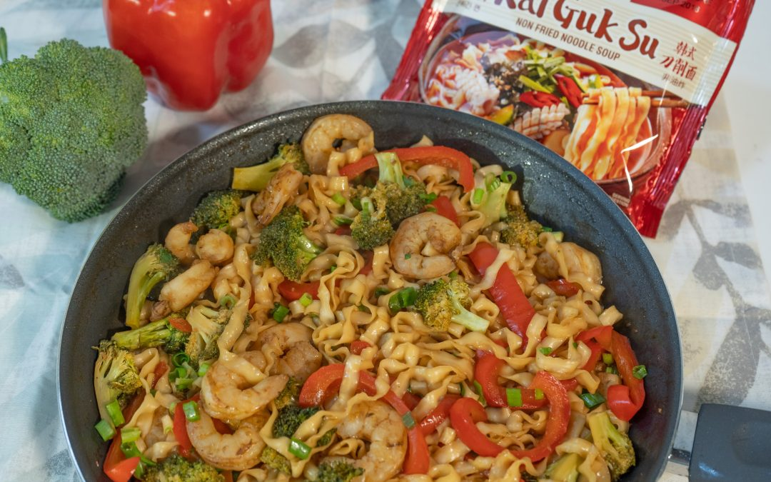 Garlic Shrimp Kal Guk Su [Recipe Video]