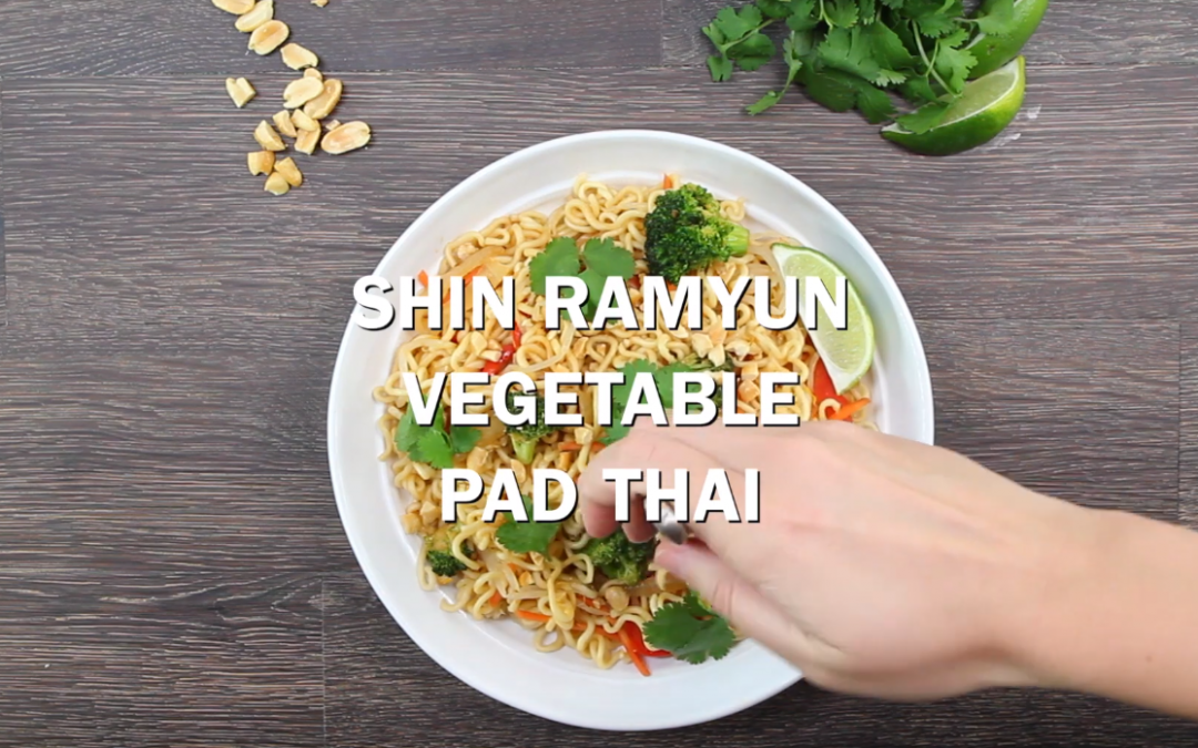 [Recipe Video] Shin Ramyun Vegetable Pad Thai